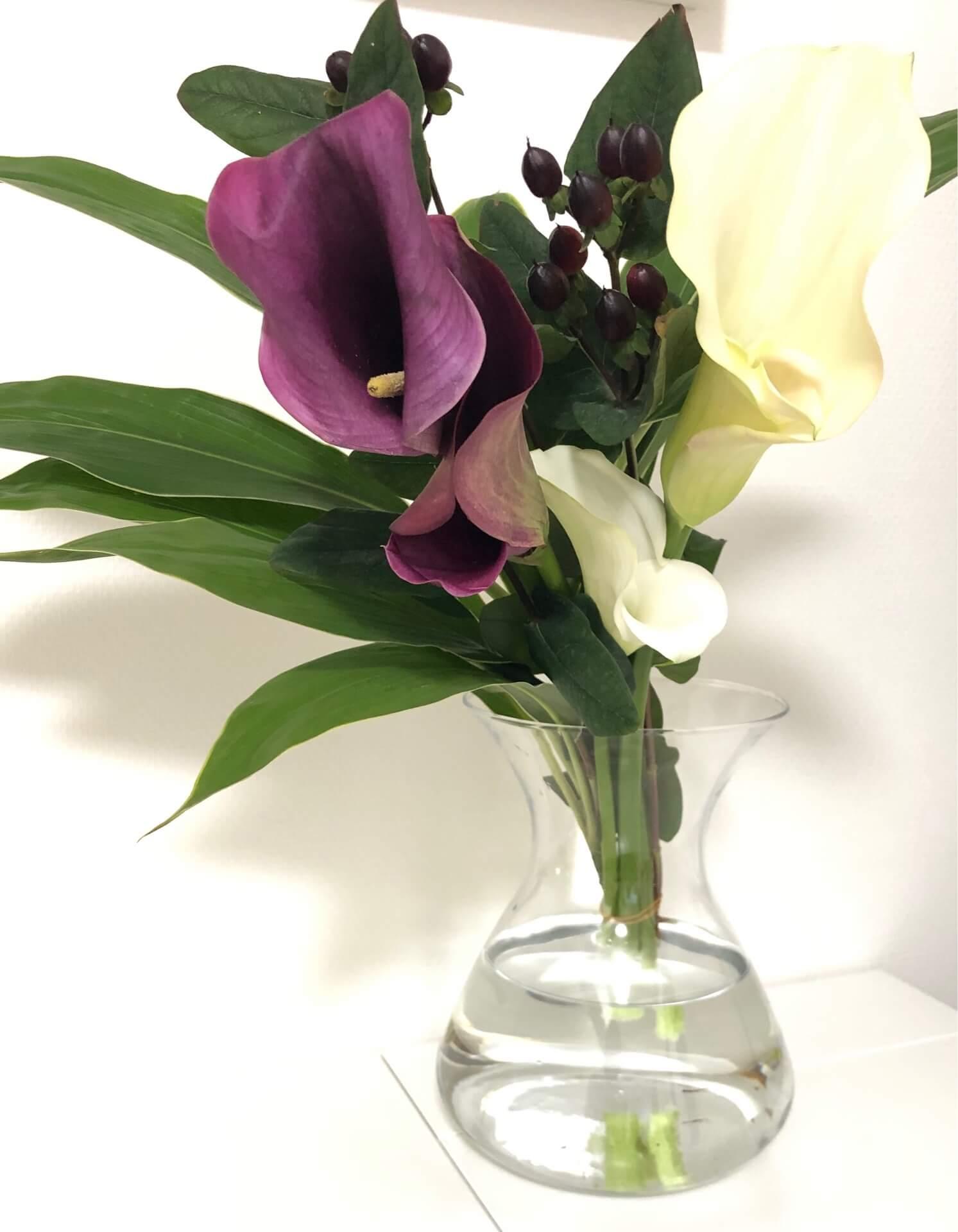 サロン内のお花