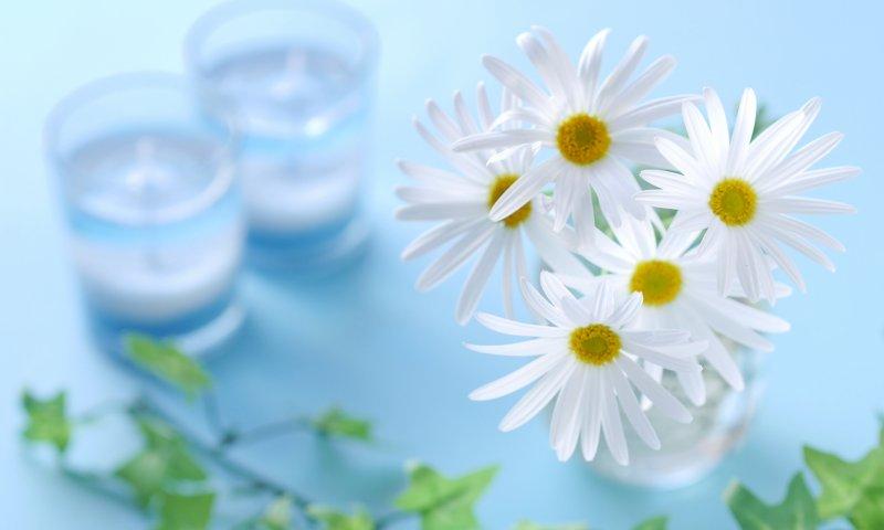 花とアロマキャンドル