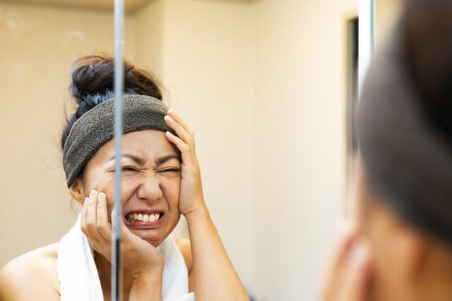 美容に悩む女性